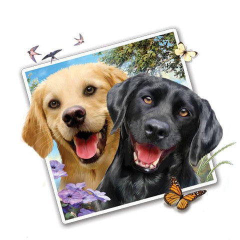 "Lab Dogs Selfie 12"" Wall Slaps Decal"