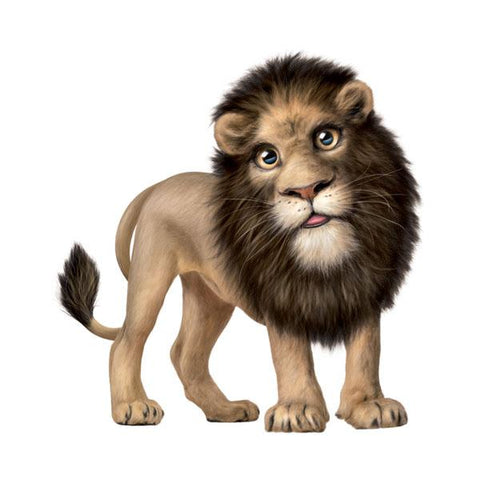 "Lion #2 12"" Wall Slaps Decal"