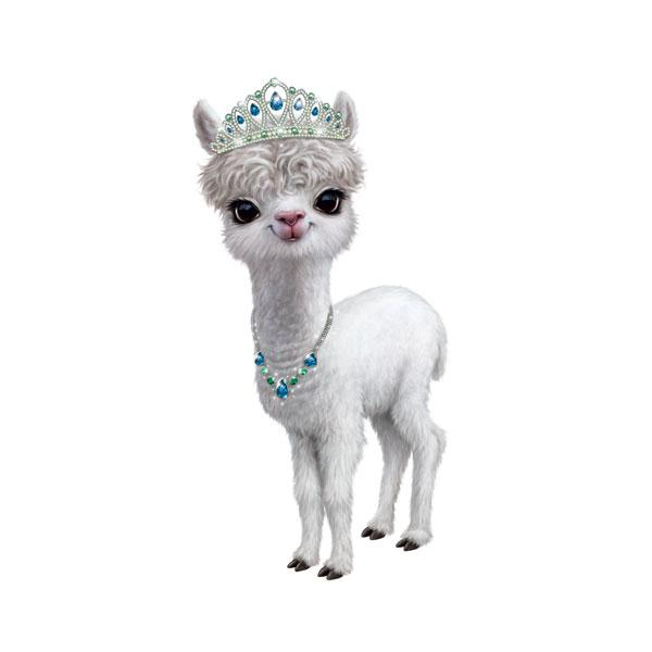 "Llama in Tiara 12"" Wall Slaps Decal"