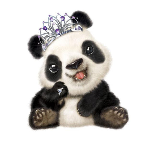 "Panda in Tiara 12"" Wall Slaps Decal"