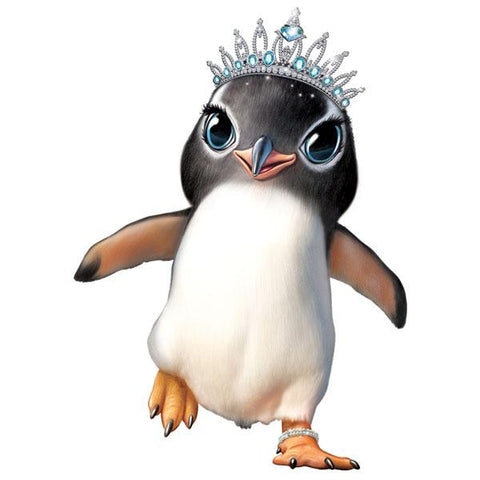 "Penguin in Tiara 12"" Wall Slaps Decal"
