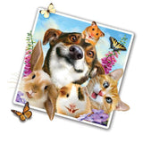 "Pets Selfie 12"" Wall Slaps Decal (Dog, bunny, cat, hamster, mouse)"