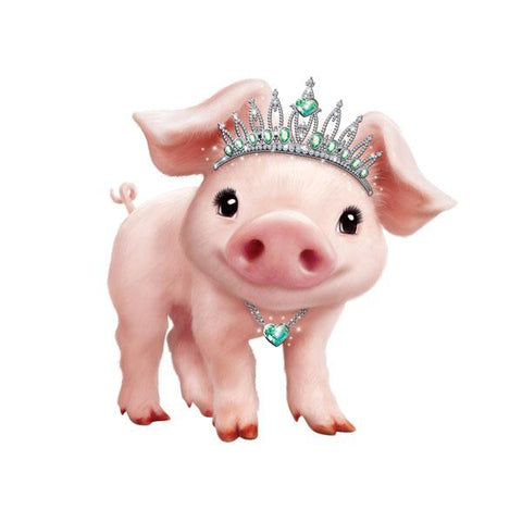 "Pig in Tiara 12"" Wall Slaps Decal"