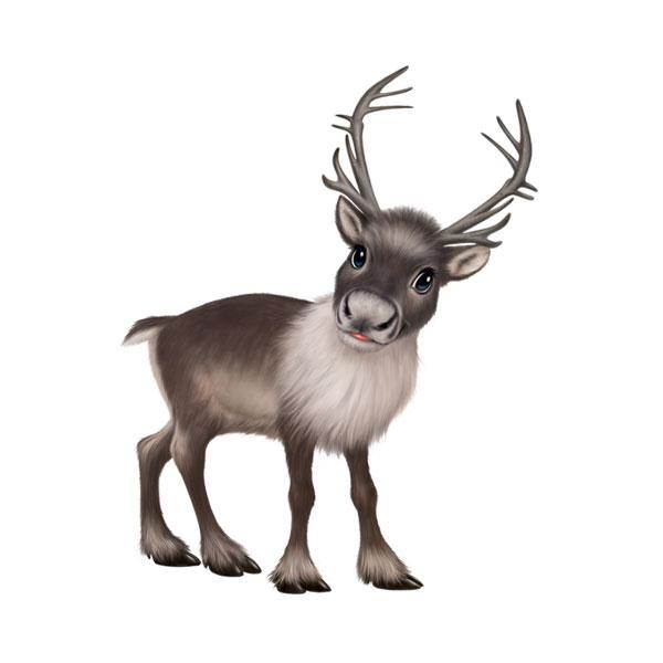 "Reindeer 12"" Wall Slaps Decal"