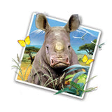 "Rhino Selfie 12"" Wall Slaps Decal"