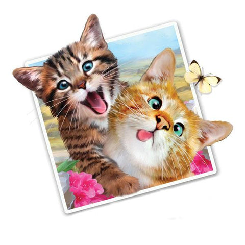 "Selfie Kittens 12"" Wall Slaps Decal"