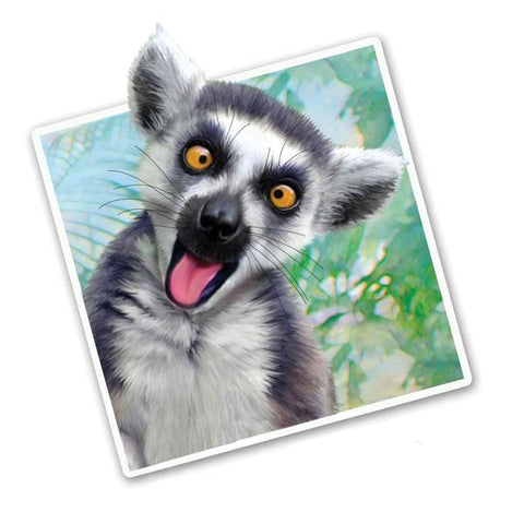"Selfie Lemur 12"" Wall Slaps Decal"
