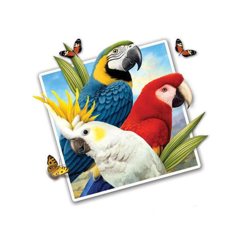 "Selfie Parrots 12"" Wall Slaps Decal"