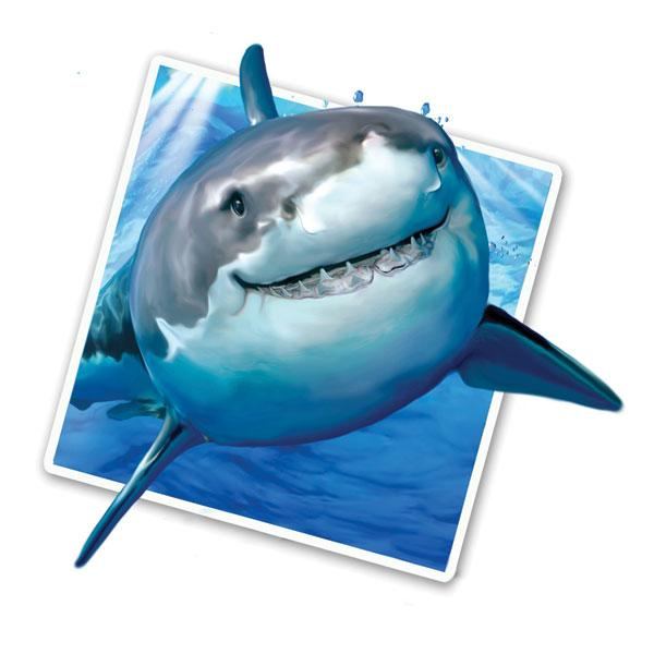 "Selfie Shark 12"" Wall Slaps Decal"