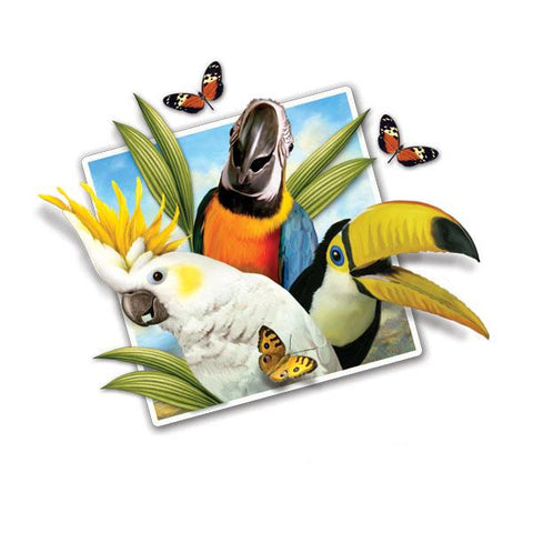 "Selfie Tropical Birds 12"" Wall Slaps Decal"