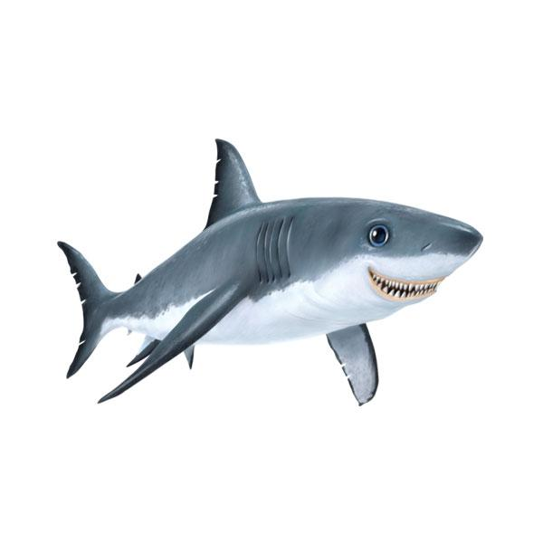 "Shark 12"" Wall Slaps Decal"