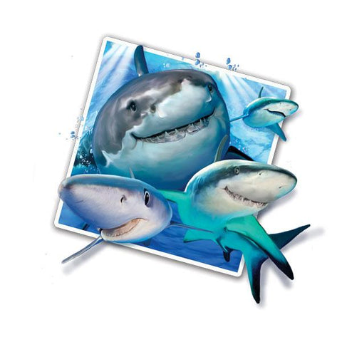 "Sharks Selfie 12"" Wall Slaps Decal"