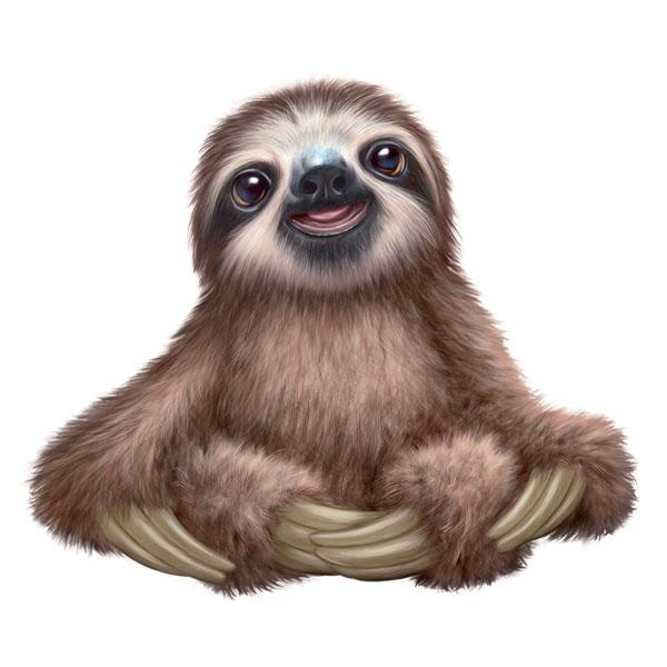 "Sloth 12"" Wall Slaps Decal"
