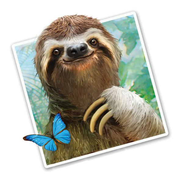 "Sloth Selfie 12"" Wall Slaps Decal"