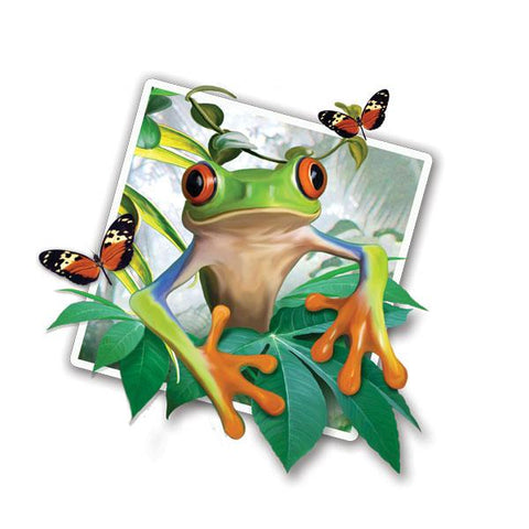"Tree Frog Selfie 12"" Wall Slaps Decal"