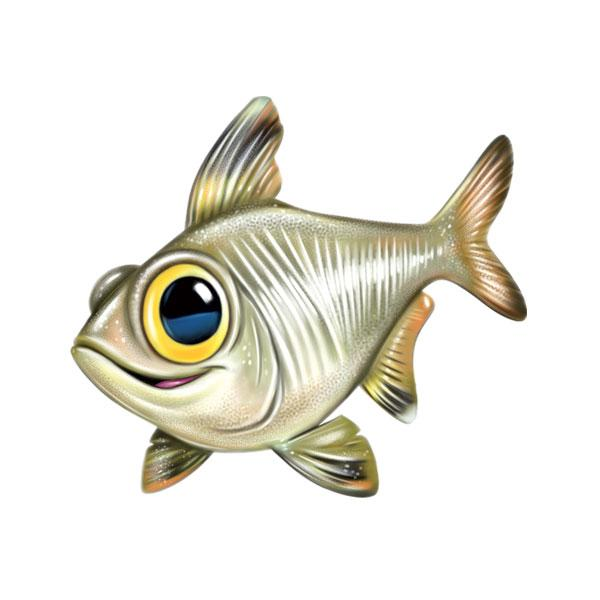 "X-Ray Fish 12"" Wall Slaps Decal"