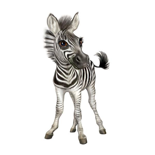 "Zebra 12"" Wall Slaps Decal"