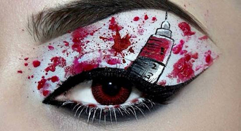 Blood Shot Halloween eye makeup