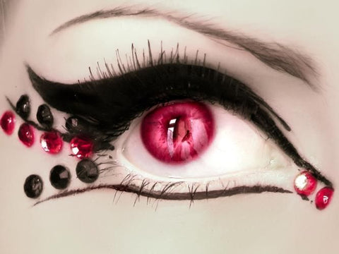 evil queen Halloween eye makeup