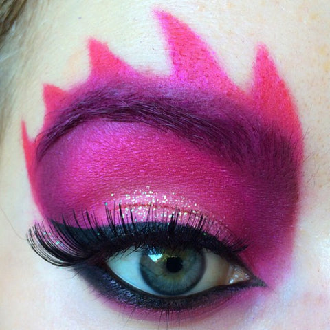 Flame Halloween eye makeup