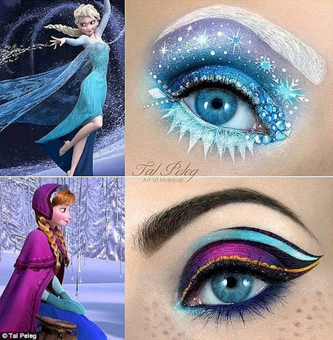 Frozen Halloween eye makeup