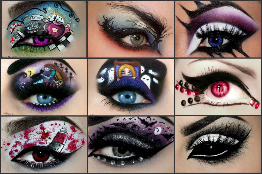 Halloween eye makeup idea