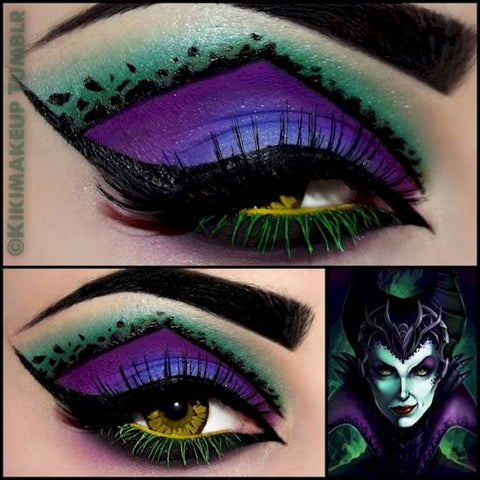 Maleficent Halloween eye makeup