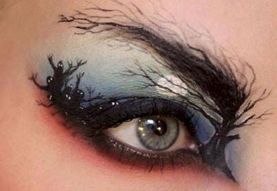 Spooky Night Halloween eye makeup
