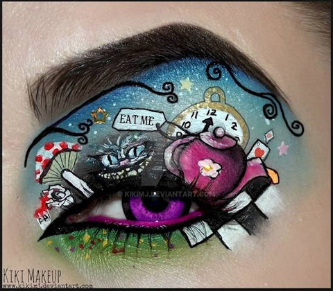 The Mad Hatter Halloween eye makeup