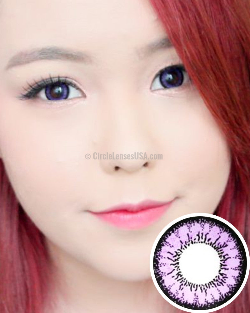 Geo Angel Purple 2 Tone Circle Lens CM831 - CircleLensesUSA.com