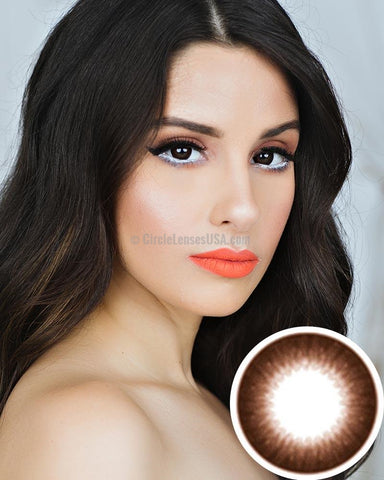 GEO Brown Circle Lens JBN103 - CircleLensesUSA.com