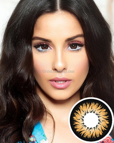 Geo Xtra Aster Brown 2 Tone Circle Lens WTC14
