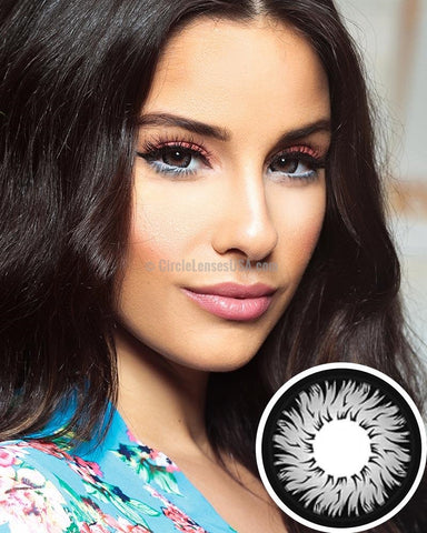 Geo Xtra Aster Grey 2 Tone Circle Lens WTC15
