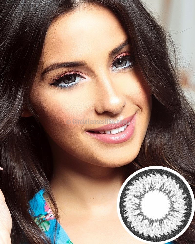 GEO Supper Size Nudy Grey Circle Lens XCH625
