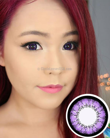 Geo Super Angel Purple Circle Lens XCM211 - CircleLensesUSA.com