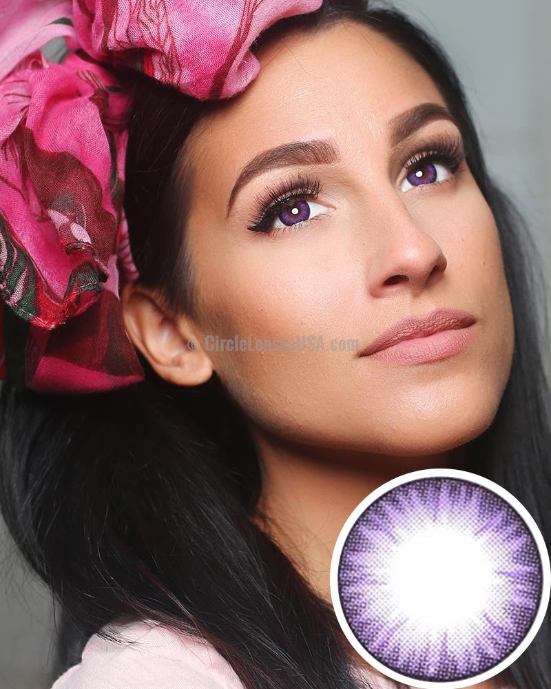 GEO Bella Special Purple 2 Tone Circle Lens BS201