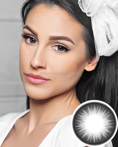 GEO Bella Special Grey 2 Tone Circle Lens BS205