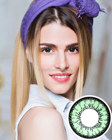 Geo Angel Green 2 Tone Circle Lens CM833 - CircleLensesUSA.com