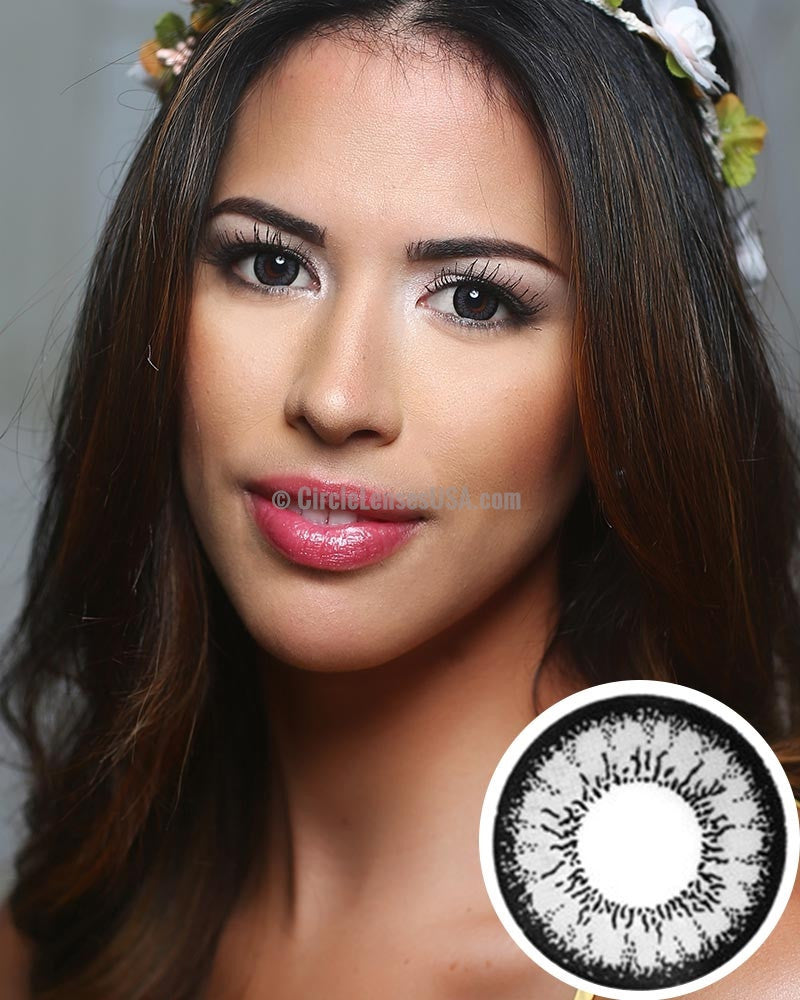 Geo Angel Grey 2 Tone Circle Lens CM835 - CircleLensesUSA.com