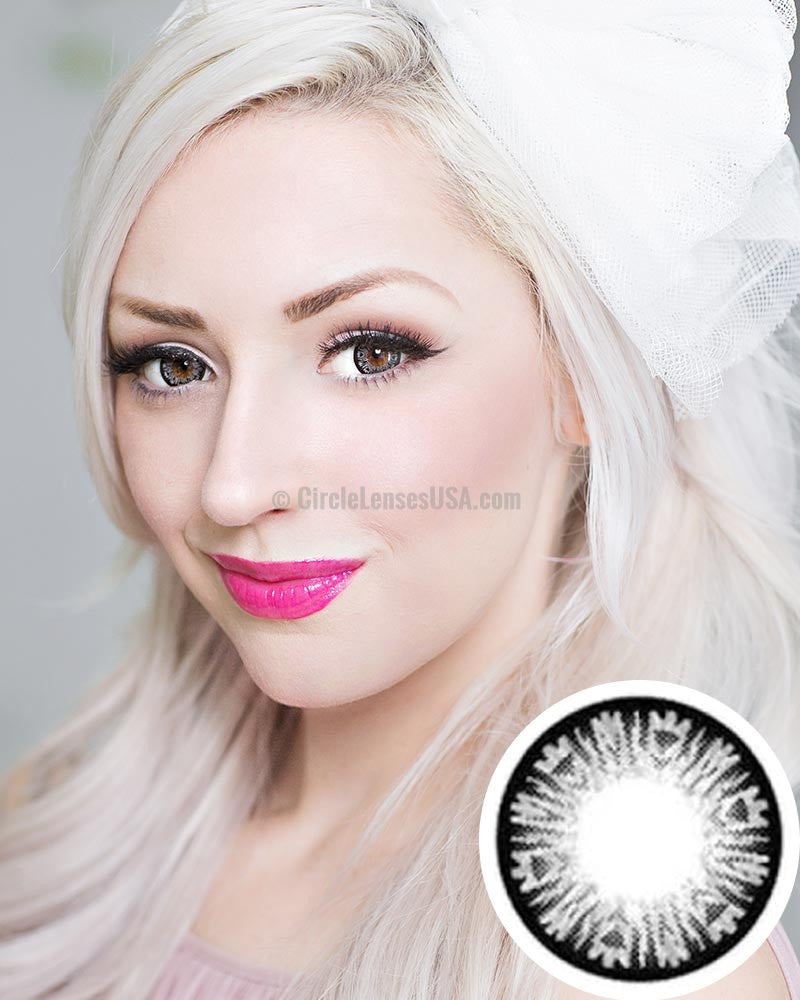 GEO Xtra Diamond Grey Circle Lens WTA05 - CircleLensesUSA.com