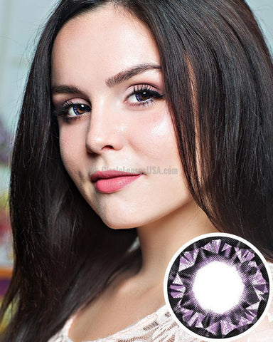 Geo Diamond Purple 2 Tone Circle Lens WTB31