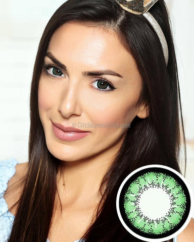 Geo Super Angel Green Circle Lens XCM213 - CircleLensesUSA.com