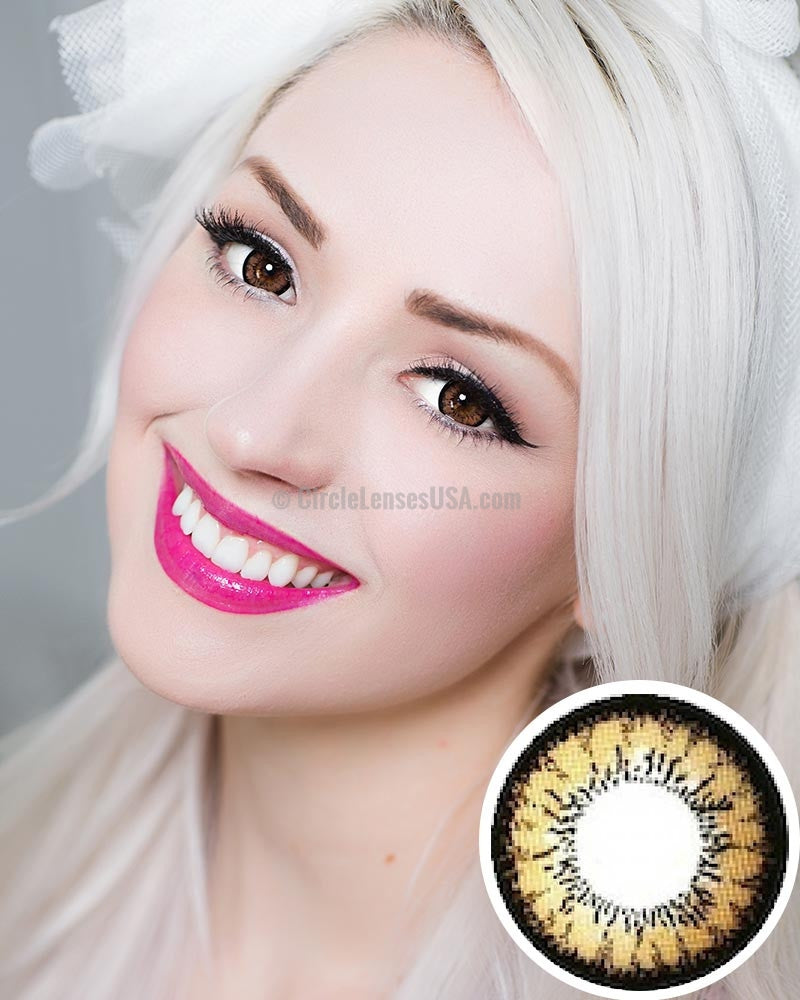 Geo Super Angel Brown Circle Lens XCM214 - CircleLensesUSA.com
