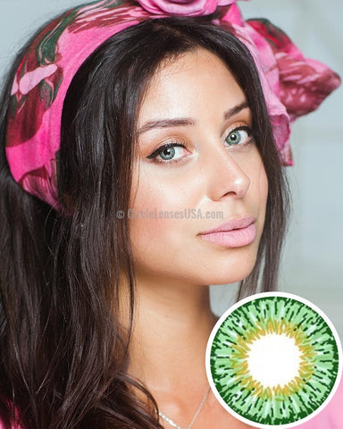 Geo Twin Series Green Circle Lens YH303 - CircleLensesUSA.com