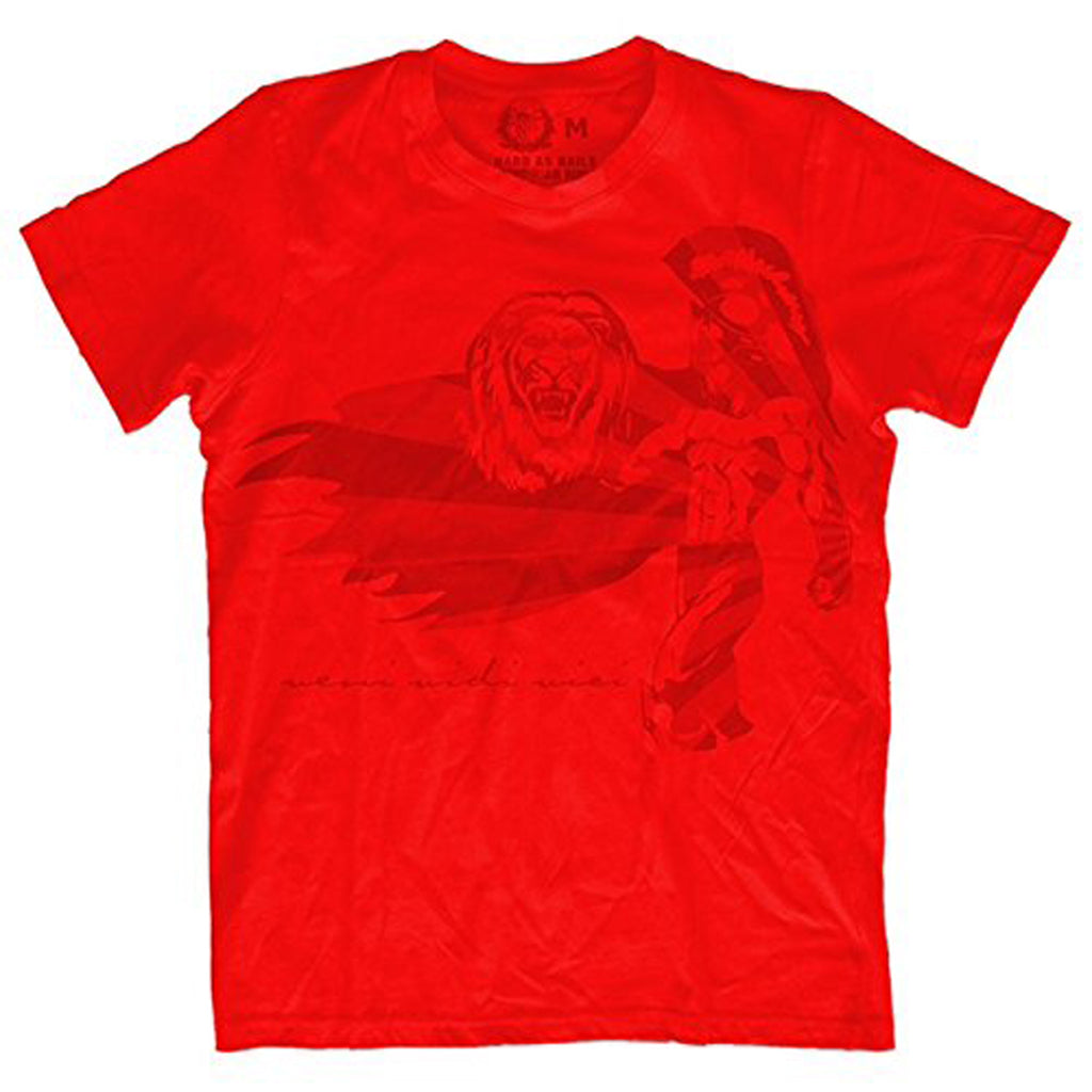 VVVFIGHTCO - VENIVIDIVICI Athletic Fit Premium Cotton Soft Printed Pledge Red T-Shirt