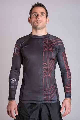 Black Belt BJJ Ranked Rashguard