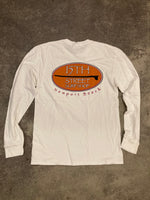 15th St Men's Old School Long Sleeve T-Shirt WHITE