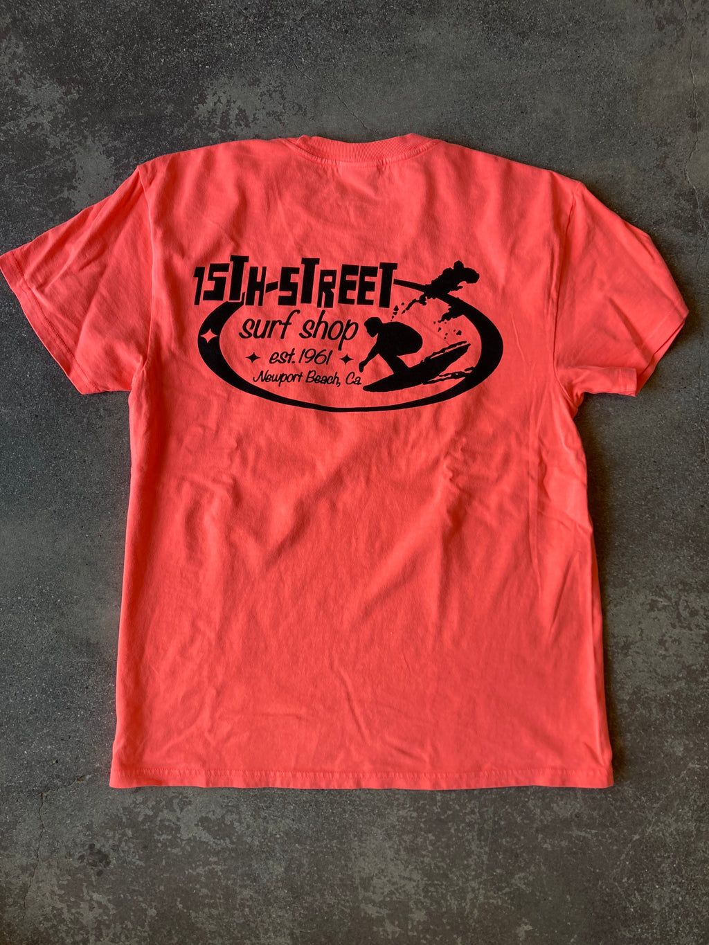 15th St Men's Since 1961 Short Sleeve T-Shirt NEON 80'S PINK