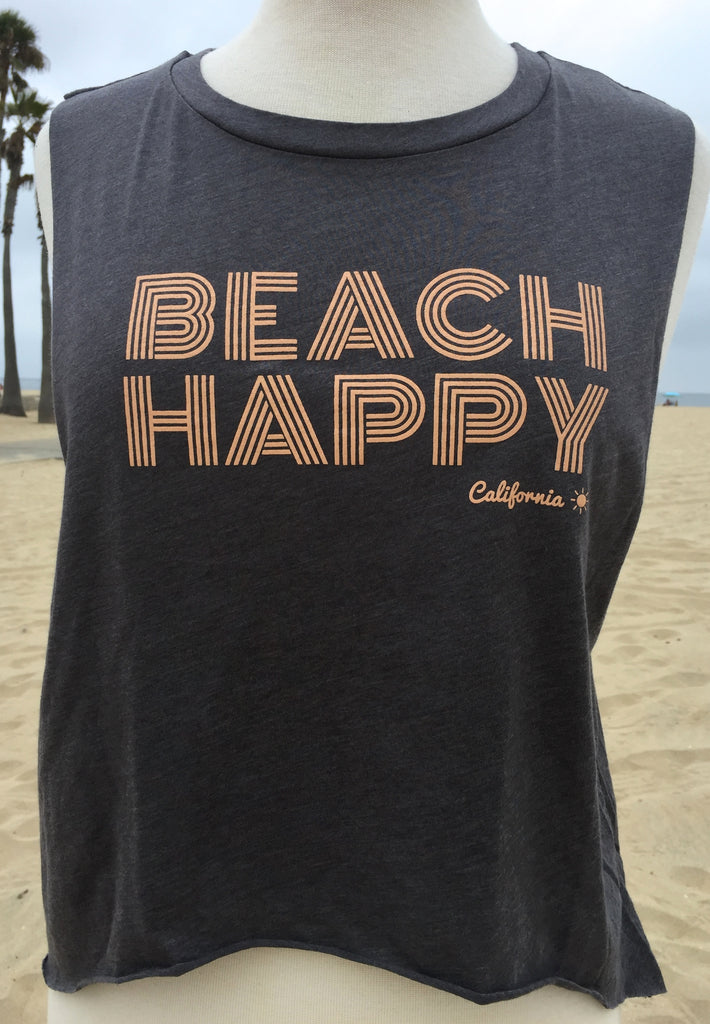 Beach happy cropped mussel tee