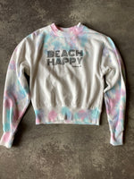 Beach Happy Crewneck Sweatshirt PASTEL TIEDYE